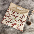 Handmade Clutch Bag with Floral Lace / Handmade Medium Super Soft printed Pouch/