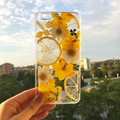 Handmade phone case/ pressed flower and pressed fruit phone case