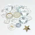 Assortment of Clear vintage buttons