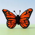Monarch butterfly brooch, Wool felt pin, orange butterfly, teacher gift