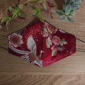 Face Mask - Red Floral - Small 9