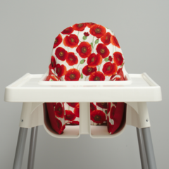 Red Poppies IKEA High Chair Cushion Cover