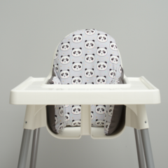 Grey Panda IKEA High Chair Cushion Cover