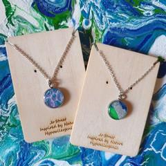 Delicate and pretty pendant on silver chain