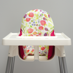 Watercolour Berries IKEA High Chair Cushion Cover