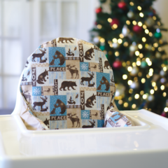 Woodland Christmas IKEA High Chair Cushion Cover