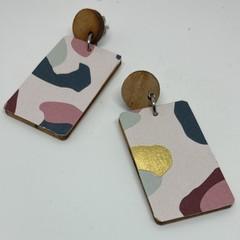 Splotch print earrings
