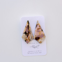 Statement Earring 'lilac stone' Collection