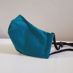 Triple Layer Mask with Toggle & Nose Wire - Teal