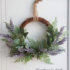 Silk flower wreath,door wreath,gift for friends,gift for female