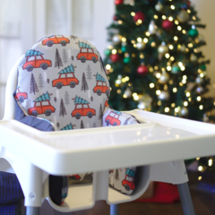 Christmas Tree & Car IKEA High Chair Cushion Cover