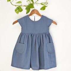 Handmade Pocketed Girl's Dress Size 3