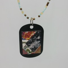 Salvador - Collage Pendant on tag