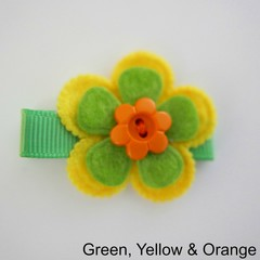 Floral hair clip on Alligator Clip
