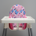 Pink & Blue Hot Air Balloon IKEA High Chair Cushion Cover