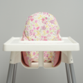 Pretty Pink Floral IKEA High Chair Cushion Cover
