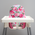 Pink Floral IKEA High Chair Cushion Cover