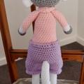 Miranda the hand crocheted Chimp / Monkey - girl, washable, OOAK by CuddleCorner