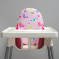 Pink Unicorns IKEA High Chair Cushion Cover