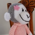 Miranda the hand crocheted Chimp / Monkey - girl, washable, OOAK by CuddleCorner