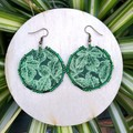 Small Round Leaf Earrings