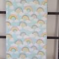 Baby Blanket - Pastel Rainbows - Flannelette