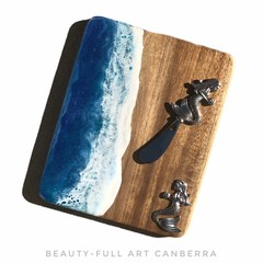 Acacia Mermaid Cheeseboard | Beach Themed Serving Board with Spreader