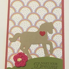 Pony horse  Kids Birthday Handmade Card - FREE POST