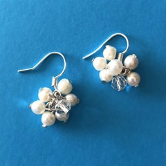 Natural Pearl Cluster Earring