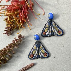 Polymer clay earrings - statement earrings Moths