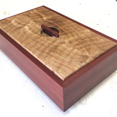 Jewellery | Keepsake | Wood Box In Bloodwood And Curly Eucalyptus