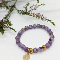 Amethyst Mandala Bracelet