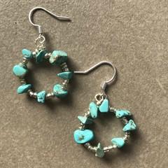 Turquoise Hoop Earring