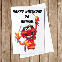 The Muppets Animal Birthday Card