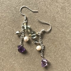 Fluorite Chain Drop Earrings