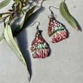Polymer clay earrings - statement earrings Gun Blossoms