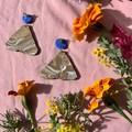 Polymer clay earrings - statement earrings Moths