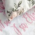 Personalised Baby Gift Throw Blanket Keepsake Cushion Cover