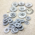 The rustic silver collection of retro & handmade buttons