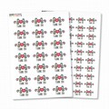 Glossy Floral Thank You Stickers - Water Resistant - Permanent