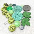 The GREEN collection of retro & handmade buttons