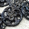 The BLACK LACE collection of vintage buttons