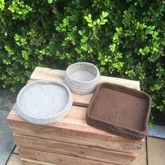 crochet basket, tray, storage