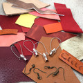 Make Your Own Leather earrings KIT- RED & ORANGE