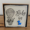 Baby Boy | Handmade card on material