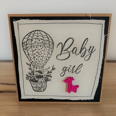 Baby Girl | Handmade card on material