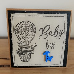Baby Boy | Handmade card on material
