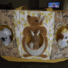 Aussie Animals Nappy Change Bag, Baby Bag, Diaper Bag,koala,kangaroo cockatoo