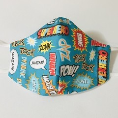 READY TO POST 3 layer Mask Comic Face Cover Reusable Cloth Mask