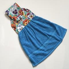 Pansies Designer Hand Towel
